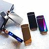 Вращающаяся электронная USB-зажигалка в подарочной коробке.