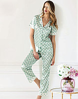 Пижама женская S/44-46, Светло-салатовый