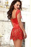 Платье корсет красное 8019 S M L XL, фото 2