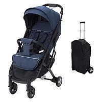 Детская коляска чемодан baby stroller S-007. Коляска трансформер прогулочная черно серая.