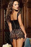 Платье корсет красное и черное 8019 S M L XL, фото 4