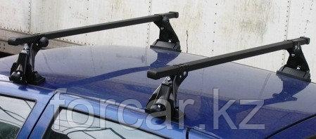 Багажник Atlant эконом-класса на ВАЗ Приора с опорой на крышу (алюминиевые дуги), фото 2