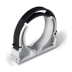 Крепеж-клипса с фиксатором для монтажа труб
