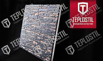 Термопанель облицовочная завода TEPLOSTIL. Фактура Короед с утеплителем 100 мм