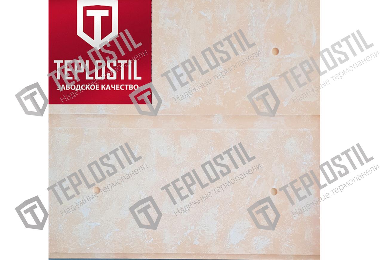 Термопанель облицовочная завода TEPLOSTIL. Фактура Сдвоенный Руст с утеплителем 50 мм