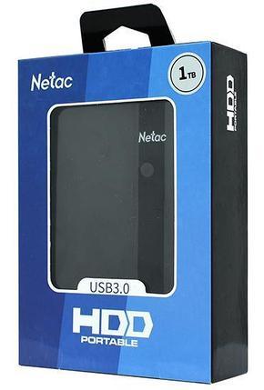 Внешний HDD 1TB Netac K331 NT05K331N-001T-30BK, USB 3.0, Black, фото 2