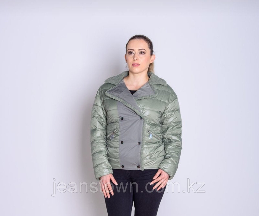 Куртка женская демисезонная  Evacana светло-зеленая короткая