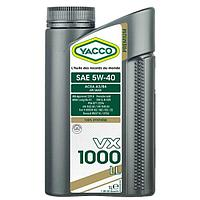 Масло Yacco VX 1000 LL 5W40 1л с допуском MB 229.5