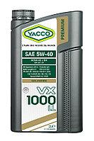 Масло Yacco VX 1000 LL 5W40 2л с допуском VW 502.00/505.00