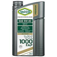 Масло Yacco VX 1000 FAP 5W40 2л для бензиновых и дизельных двигателей