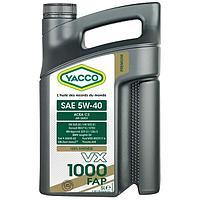 Синтетическое масло Yacco VX 1000 FAP 5W40 5л для легковых автомобилей