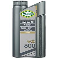Синтетическое моторное масло Yacco VX 600 5W-40 1л