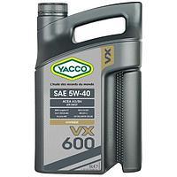 Моторное масло Yacco VX 600 5W-40 5л. Температура застывания -42 С