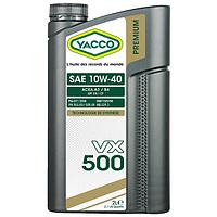 Масло YACCO VX 500 10W40 2л. Температура застывания -45 С