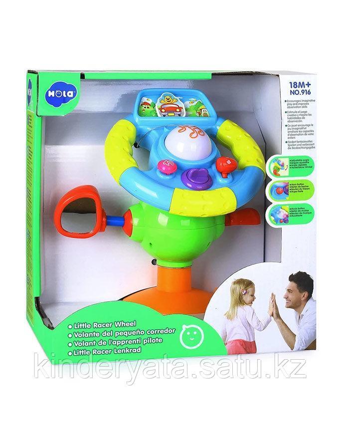 HOLA TOYS Развивающая игрушка ИНТЕРАКТИВНЫЙ РУЛЬ с логикой