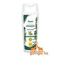 Шампунь с амлой, бринградж, гибискусом и брами (Hair fall control shampoo AYUSRI), 200 мл.