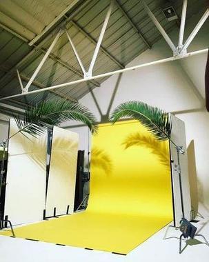 Студийный тканевый фон 2м × 2,3 м желтый, фото 2