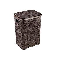Корзина для белья Elif Plastik Ажур 322, коричневый
