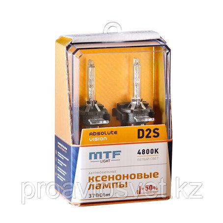 Ксенон MTF Light D2S 85В 35Вт ABSOLUTE VISION +50% 3800lm 4800K AVBD2S