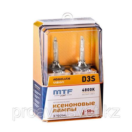 Ксенон MTF Light D3S 42В 35Вт ABSOLUTE VISION +50% 3800lm 4800K AVBD3S
