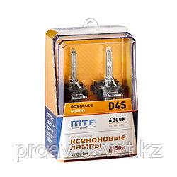 Ксенон MTF Light D4S 42В 35Вт ABSOLUTE VISION +50% 3800lm 4800K AVBD4S