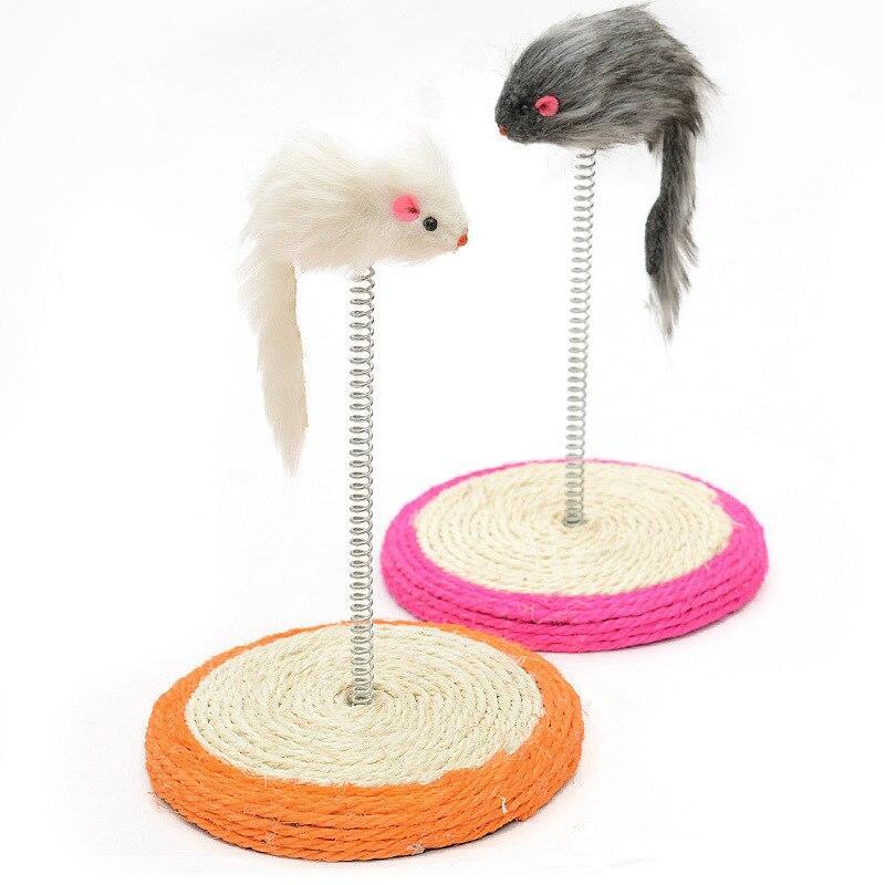 Когтеточка-Игрушка для кошек Мышь на подставке