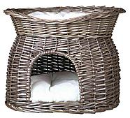 Дом плетеный двухэтажный для кошек - 54 х 43 х 37 см