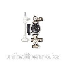 Подмешивающий (смесительный модуль) 1'' для теплого пола Varmega с насосом Grundfos 25-65, 150м2