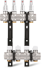 """Коллектор S9 1""""x3/4"""" EK для теплого пола с расходомерами Varmega - 9 выходов"""