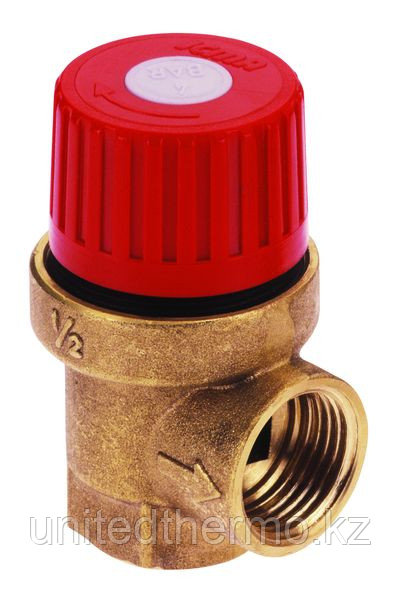 """Предохранительный клапан 1/2"""" давление 4 бар (мембранный) арт. 241 ICMA"""
