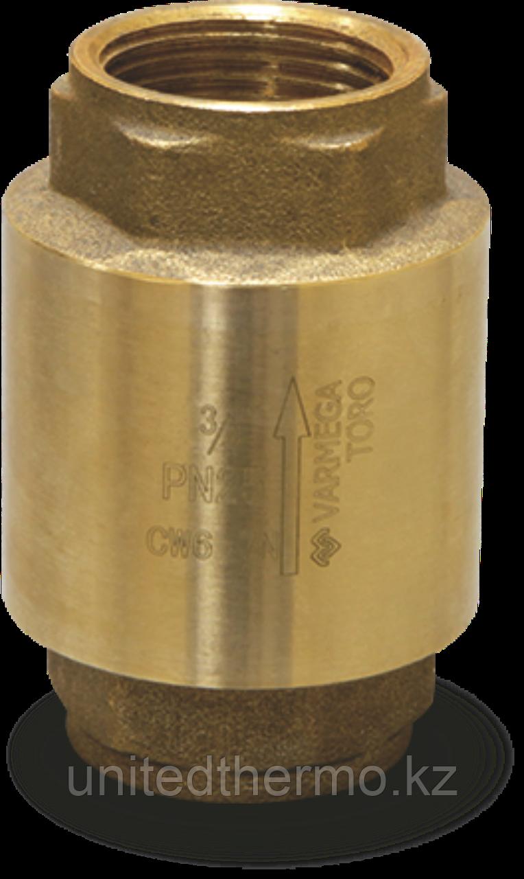 """Усиленный обратный клапан 1"""" Varmega Toro с латунным диском"""