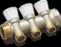 """Коллектор 3/4"""" ВР-НР с двумя отводами 1/2"""" НР с регулирующими вентилями для водоснабжения RBM"""