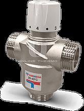 """Термостатический 3x1"""" -Kv 3,2-30º~65ºC смесительный клапан Varmega, теплый пол"""