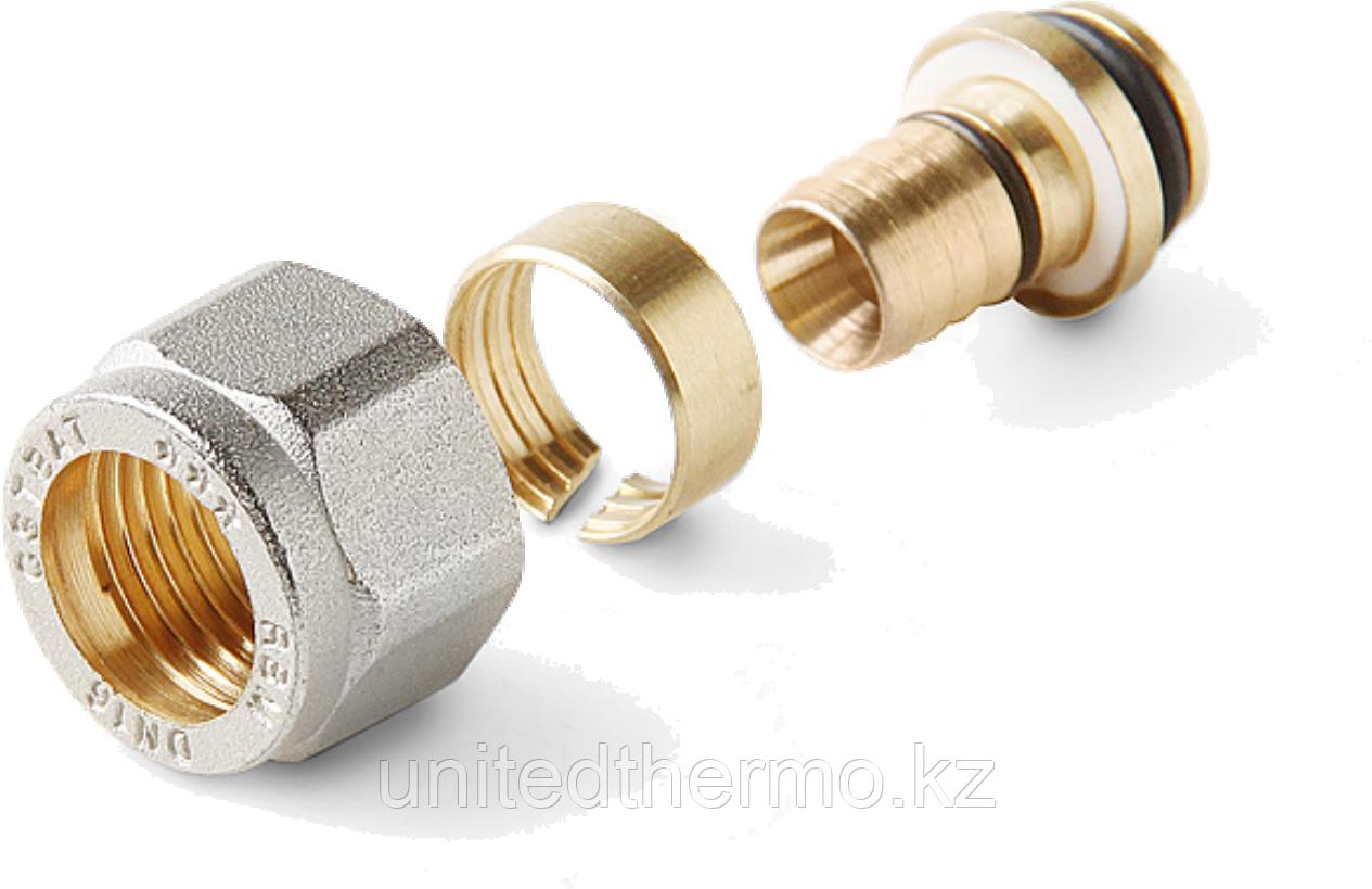 Соединитель 16х2.0мм для PE-RT / PEX труб к коллекторам водоснабжения RBM