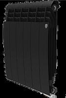 Радиатор алюминиевый Biliner 500/90 выпуклый Royal Thermo черный (РОССИЯ), фото 1