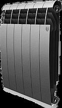 Радиатор алюминиевый Biliner 500/90 выпуклый Royal Thermo серый (РОССИЯ)