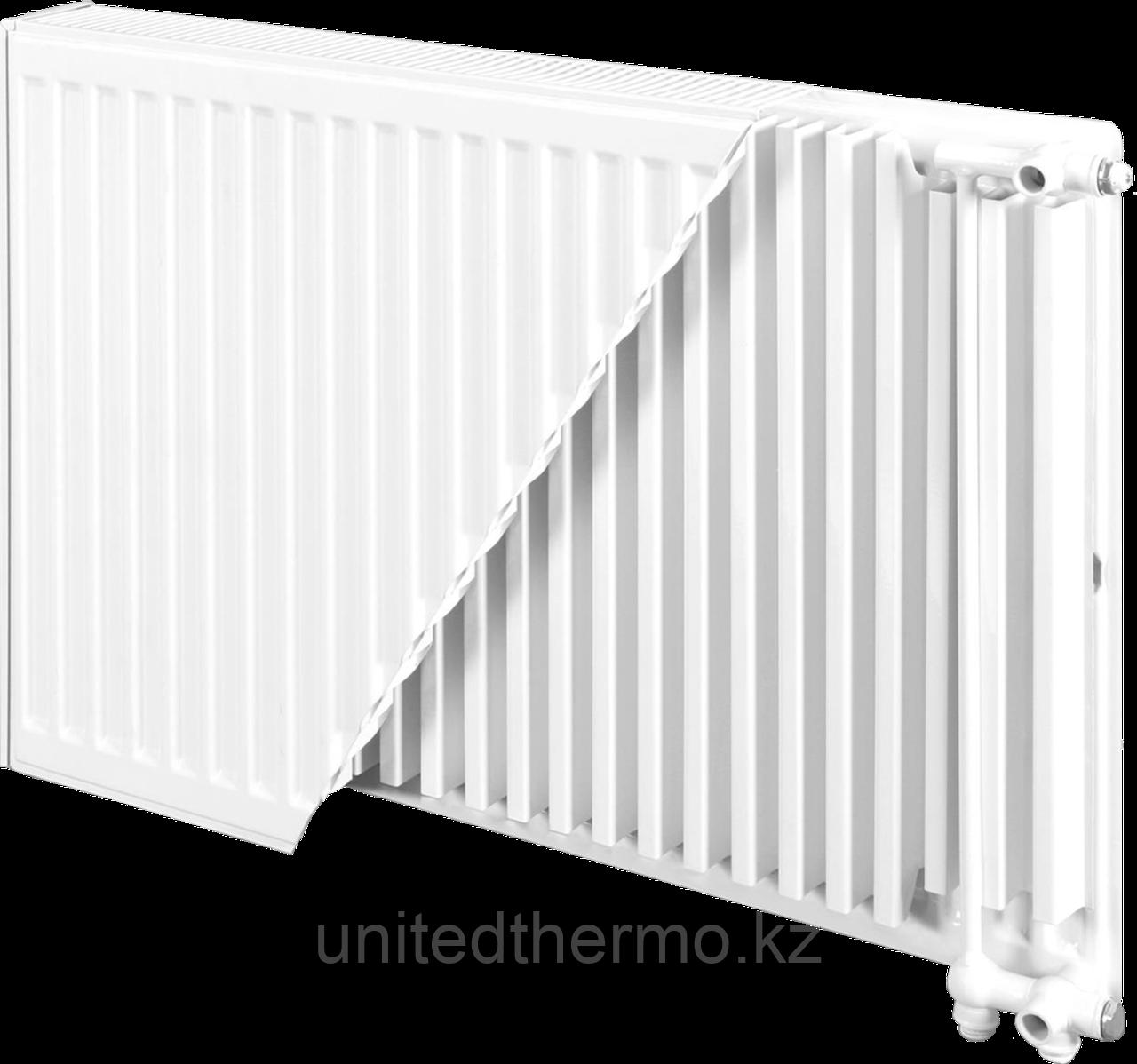 Радиатор стальной тип 22VK H300мм*L3000мм панельный Bjorne нижнее подключение