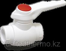 Шаровые краны из ППР 40мм для горячей воды Fusitek