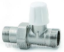 Кран радиаторный 24*1,5 прямой нижний вентиль с наружной резьбой арт. 829+100 ICMA