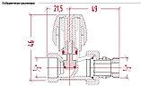 """Ручной вентиль 1/2"""" простой регулировки прямой арт. 1117 ICMA, фото 2"""