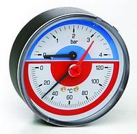 "Термоманометр 1/2"" с запорным клапаном арт. 259 ICMA"