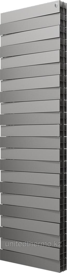 Радиатор биметаллический Pianoforte Tower 22 cекц. Royal Thermo серебро (РОССИЯ)
