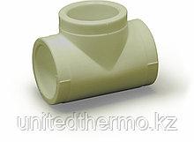 Тройник 40 мм равносторонний Fusitek (СЕРЫЙ)