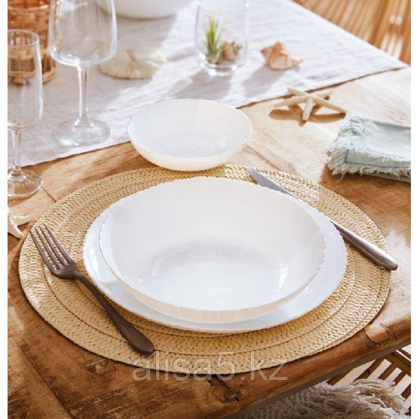 AMMONITE WHITE столовый сервиз на 6 персон из 18 предметов, шт