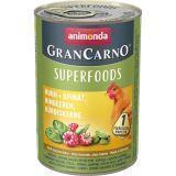 Animonda 400г с курицей, шпинатом, малиной и тыквенными семечками Консервы для взрослых собак GranСarno