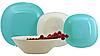 CARINE  LIGHT TURQUOISE & BLANC столовый сервиз на 6 персон из 19 предметов, шт, фото 3