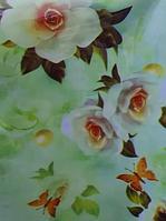 Гелевая клеенка для стола жемчуг и цветы