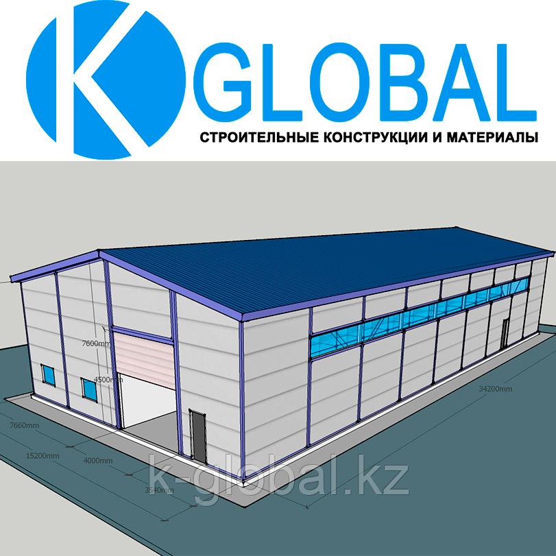 Быстровозводимое здание утепленное из сэндвич-панелей на 510м2 под ключ в Алматы