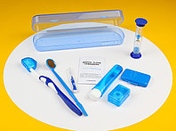Ортодонтический набор для брекетов пластиковый пенал Синий