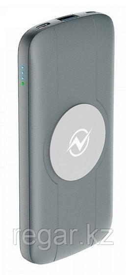 Зарядное беспроводное устройство Power bank Olmio QW-10, 10000mAh, серый